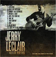 Jerry Leclair Restless These Days CD Back Cover